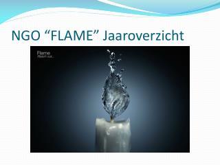 """NGO """"FLAME"""" Jaaroverzicht"""