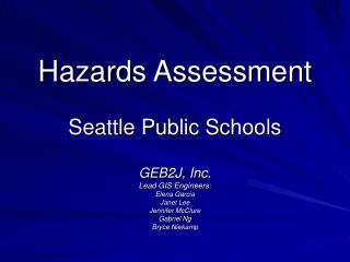 Hazards Assessment Seattle Public Schools