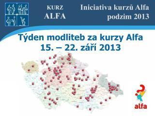 Iniciativa kurzů Alfa podzim 2013