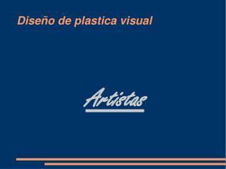 Diseño de plastica visual