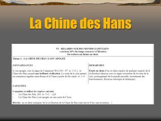 La Chine des Hans