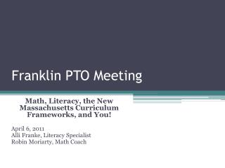 Franklin PTO Meeting