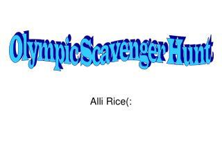 Alli Rice(: