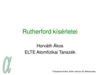 Rutherford kísérletei