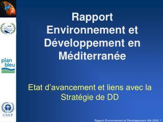 Rapport Environnement et Développement en Méditerranée