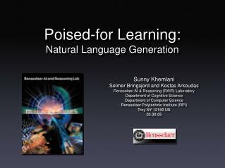 Sunny Khemlani Selmer Bringsjord and Kostas Arkoudas Rensselaer AI & Reasoning (RAIR) Laboratory