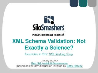 XML Schema Validation: Not Exactly a Science?
