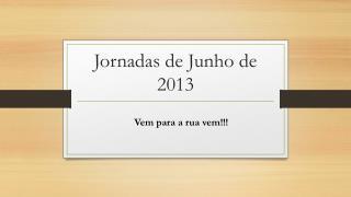 Jornadas de Junho de 2013