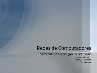 Redes de Computadores