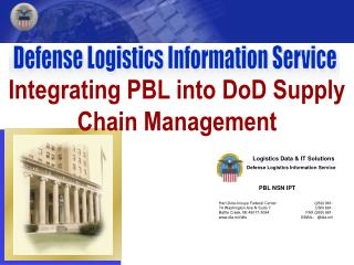 Integrating PBL into DoD Supply Chain Management