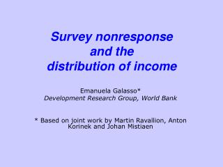 Survey nonresponse and the distribution of income