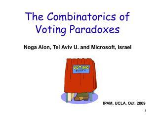 The Combinatorics of Voting Paradoxes