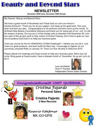 Cristina Fajardo Personal Sales