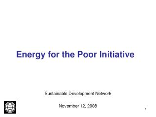 Energy for the Poor Initiative