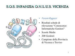 """Forum Ragazzi Risultati schede di rilevazione """"Conoscenze Informatiche Genitori"""" Scuole Medie"""