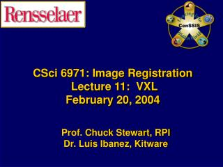 CSci 6971: Image Registration  Lecture 11:  VXL February 20, 2004