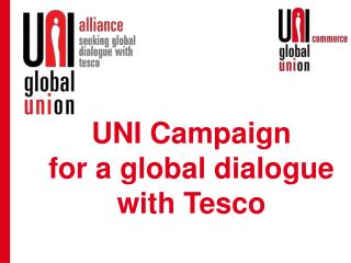 UNI Campaign for a global dialogue with Tesco
