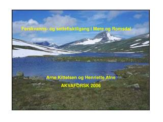 Ferskvanns- og settefisktilgang i Møre og Romsdal