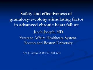 Jacob Joseph, MD Veterans Affairs Healthcare System- Boston and Boston University