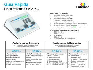 Guía Rápida Línea Entomed SA 20X- IV
