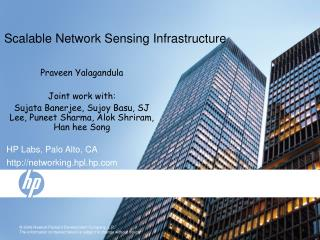 Scalable Network Sensing Infrastructure