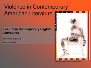 Violence in Contemporary American Literature