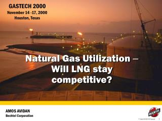Natural Gas Utilization  – Will LNG stay competitive?