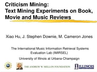 Criticism Mining:  Text Mining Experiments on Book, Movie and Music Reviews
