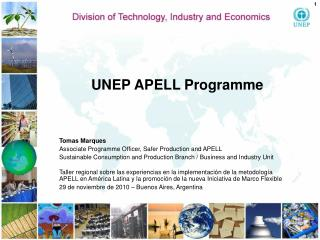 UNEP APELL  Programme