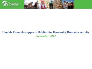 Lindab Romania supports Habitat for Humanity Romania activity November 2012