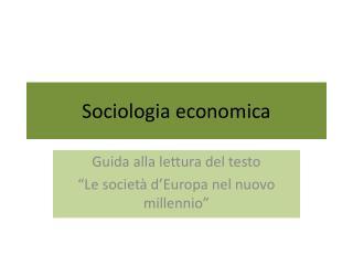 Sociologia economica