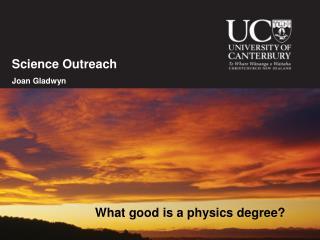Science Outreach Joan Gladwyn
