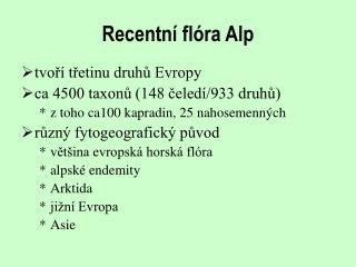 Recentn� fl�ra Alp