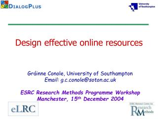 Design effective online resources