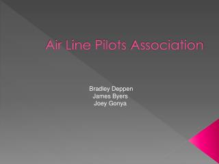 Air Line Pilots  A ssociation