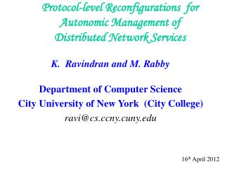 Protocol-level Reconfigurations  for Autonomic Management of Distributed Network Services
