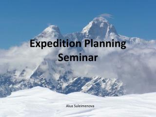 Expedition Planning Seminar