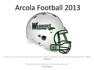 Arcola Football 2013