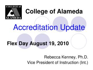 Accreditation Update