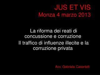 JUS ET VIS Monza 4  marzo  2013