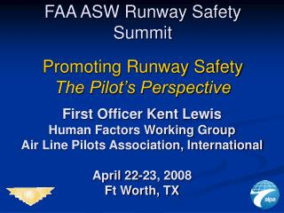 FAA ASW Runway Safety Summit