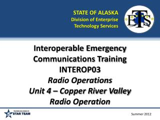 STATE OF ALASKA Division of Enterprise Technology  Services