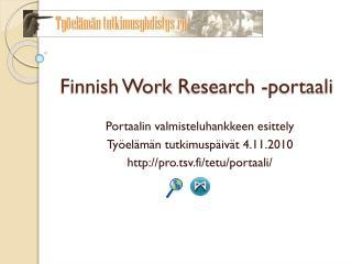 Finnish Work Research -portaali