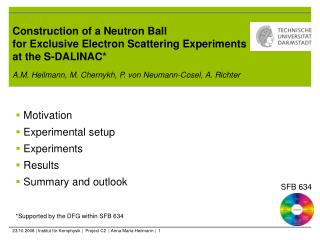 Construction of a Neutron Ball  for Exclusive Electron Scattering Experiments at the S-DALINAC*