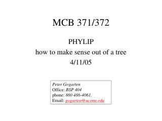MCB 371/372
