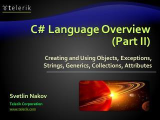 C Language Overview Part II
