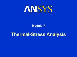 Thermal-Stress Analysis