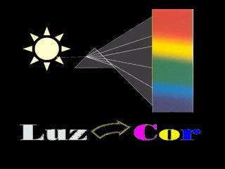 A luz e a cor existem na realidade como componentes do mundo de sensações dos seres vivos.