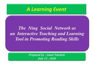 A Learning Event