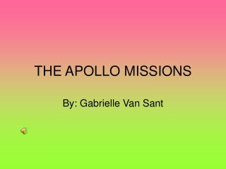 THE APOLLO MISSIONS